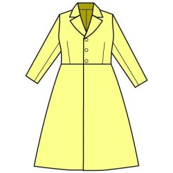 画像2: テーラードカラーのコートの型紙 レディース