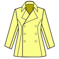 画像2: ナポレオンカラーのコートの型紙 レディース