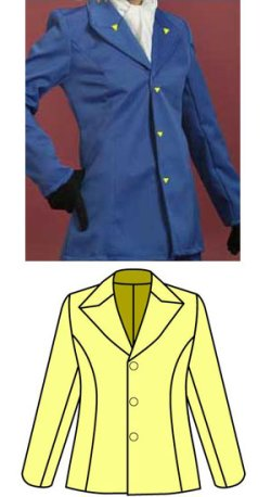 画像1: 三角えりのジャケットの型紙