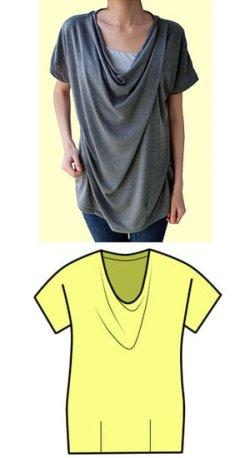 画像1: ドレープシャツの型紙【委託商品】レディース
