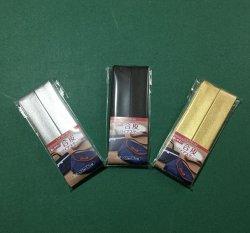 画像1: 【合皮】金・銀色・黒色バイアステープ