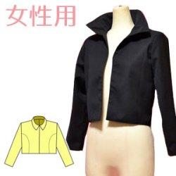 画像2: 裏付ハーフジャケットの型紙 レディース