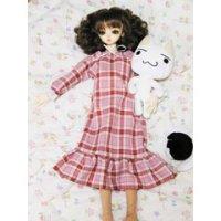 SD、SD13女の子用 裾フリルのロングワンピースの型紙