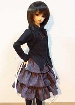 画像1: シャツカラー燕尾編み上げブラウス お姉さん用