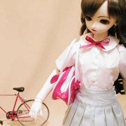 画像2: フラットカラーブラウスの型紙 少女用