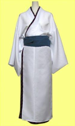 画像1: 男性キャラクターの雰囲気を出したい女性の為の男装用着物風の型紙 レディース