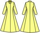 他の写真1: プリンセスラインのコートの型紙 レディース