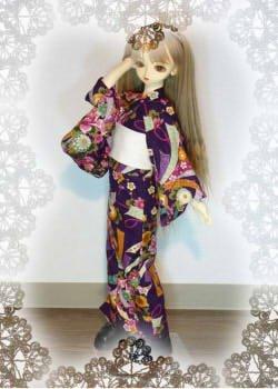 画像1: SD女の子用 単着物(ゆかた)の型紙