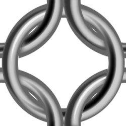画像1: 太めめの鎖帷子のテクスチャ(印刷用素材)