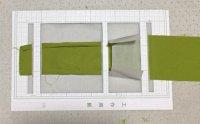 帯の縫い代折りテンプレート