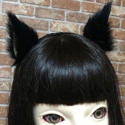画像1: 【無料】横向きのケモノ耳(ネコミミ、犬耳などが作れる)型紙「お試し」