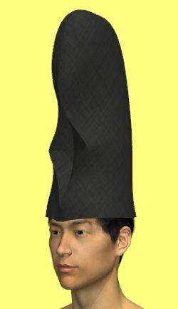 画像1: 【無料】コスプレ用高烏帽子の型紙