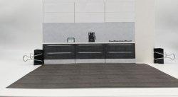 画像1: 【無料】1/15サイズ?のキッチンの背景 ペーパークラフト?