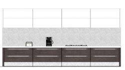 画像2: 【無料】1/15サイズ?のキッチンの背景 ペーパークラフト?