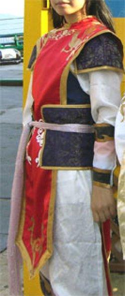 画像1: 【無料】周瑜風 上着(赤い部分のみ)