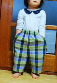 【無料】90サイズ子供用パンツの型紙