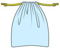 【無料】巾着袋の型紙両方に紐が出るタイプ