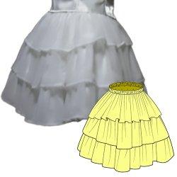 画像2: 3段ティアードスカートの型紙 レディース