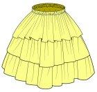 他の写真1: 3段ティアードスカートの型紙 レディース