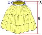 他の写真3: 3段ティアードスカートの型紙 レディース