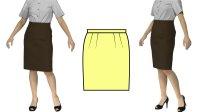 【無料】タイトスカートの型紙