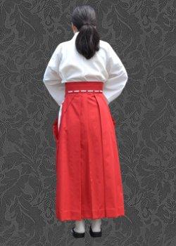 画像2: 巫女キャラクターのコスプレに コスプレ用緋袴(スカートタイプ)の型紙 レディース