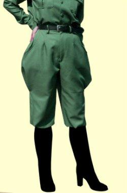 画像1: 両脇が膨らんだ古風な軍服風の乗馬パンツの型紙  レディース