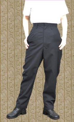 画像1: 学生服やフォーマルな衣装におすすめ!シンプルなロングパンツの型紙 レディース