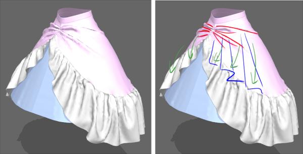 変形スカートの作成