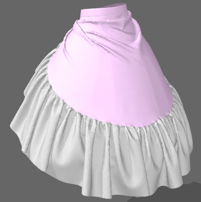 変形スカートの作成方法