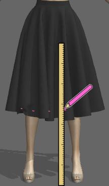 ドレープたっぷりスカート