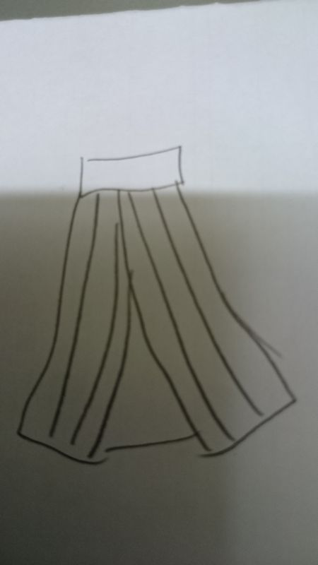 ストライプスカートのつくりかた