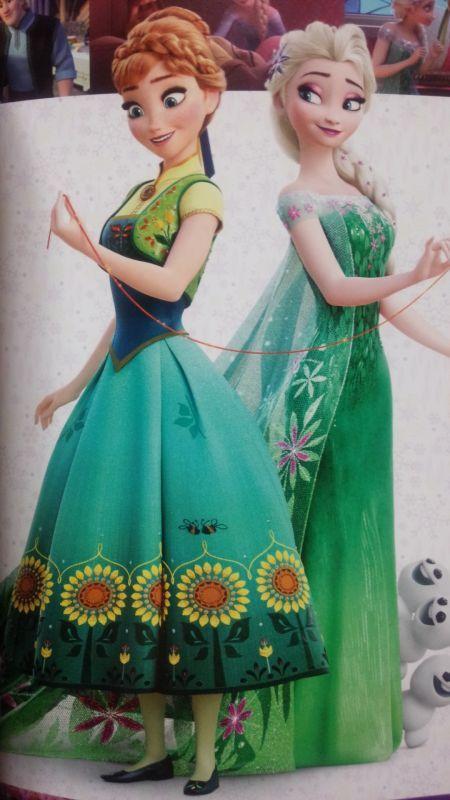 「エルサのサプライズ」でのアナのスカート