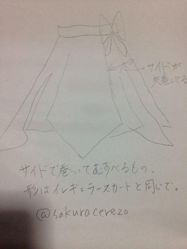 イレギュラースカートの変形