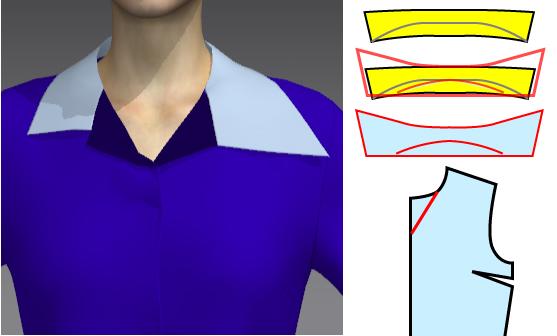ディズニーヴィランズの手下 マルフィのシャツの襟について