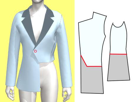 プリティーリズム ジュネのジャケット ジュネのジャケットの作り方について