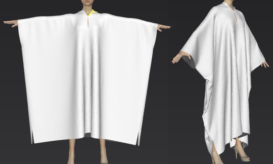 ポンチョのような服の作り方