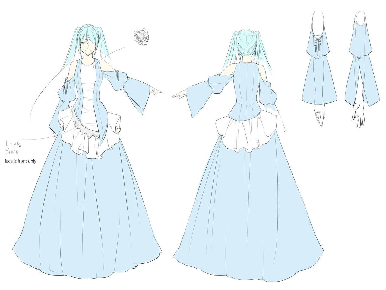 VOCALOID 初音ミク・「眠らせ姫からの贈り物」のドレスについて