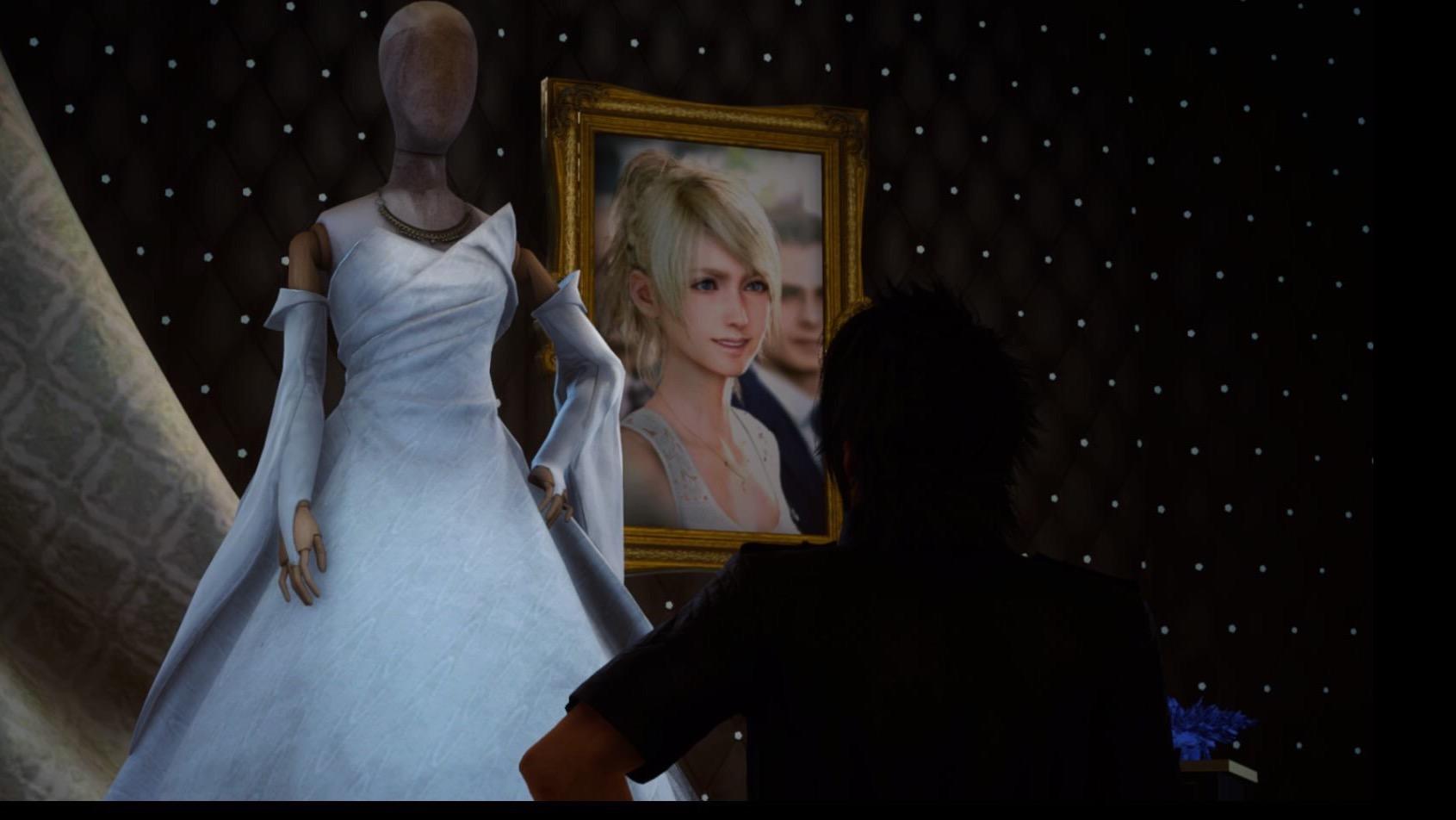 FF15のルナフレーナの結婚式衣装の件