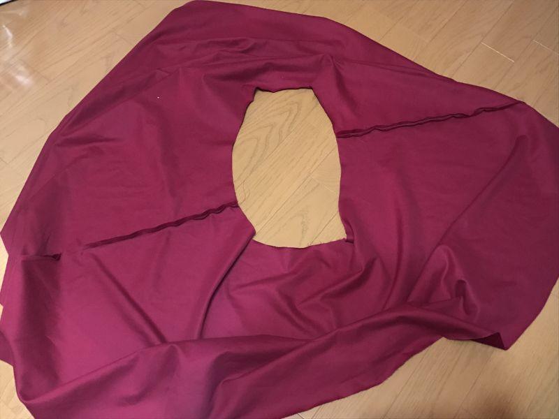 フレアスカートの縫い方について