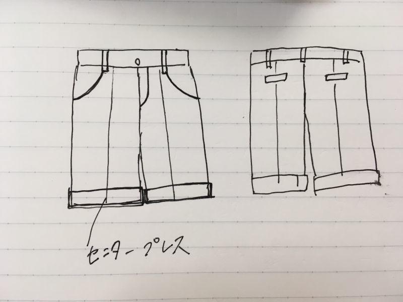 制服のようなハーフパンツの作り方について
