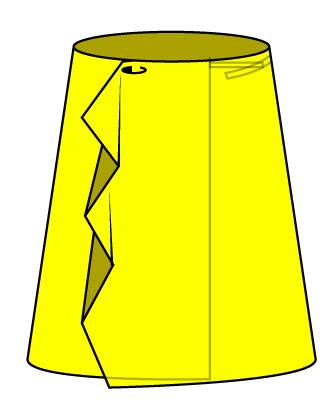 巻きスカートを想像してください