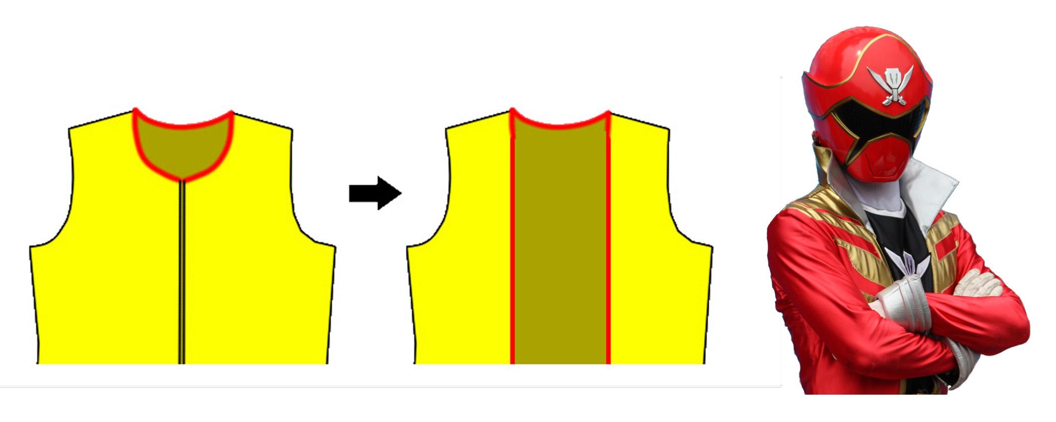 ロングコートの型紙の改造について