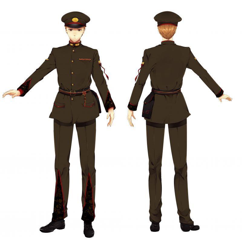 軍服の裏地の付け方