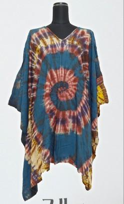 透ける布を染色してポンチョを作りたいです