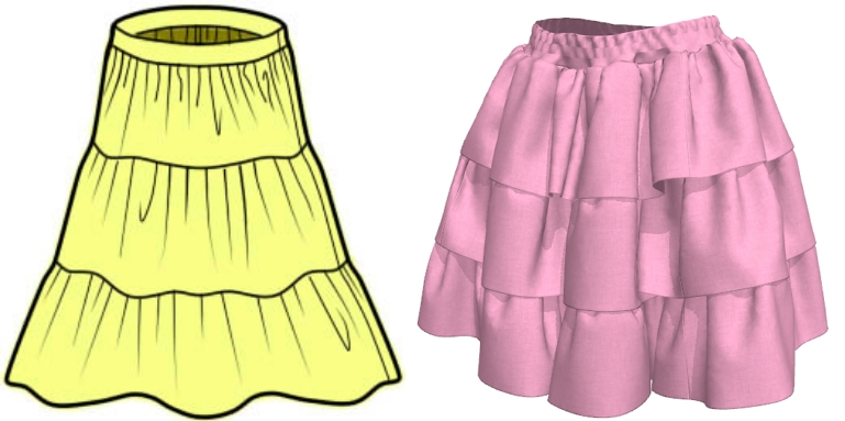 全円スカートに変更