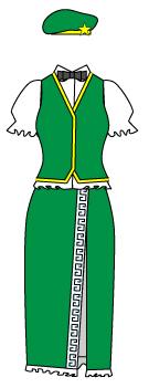 東方紅魔郷の紅美鈴の衣装