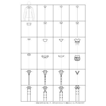 洋服のデザイン画・ハンガーイラストの描き方