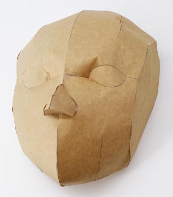 立体のお面の型紙