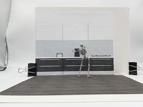 キッチンの背景のかきわり